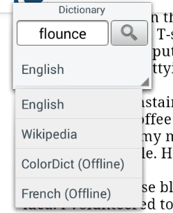 How to use a new offline dictionary with the OverDrive app