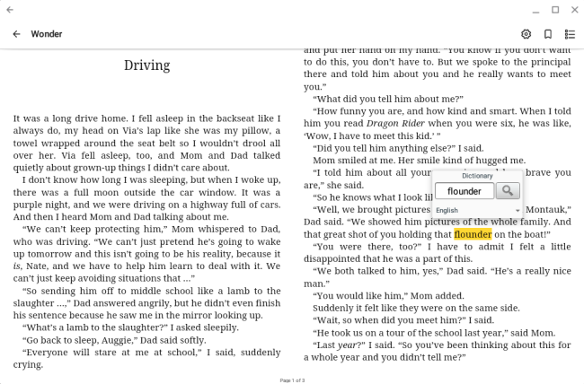 How to use the ebook reader in OverDrive for Chromebook