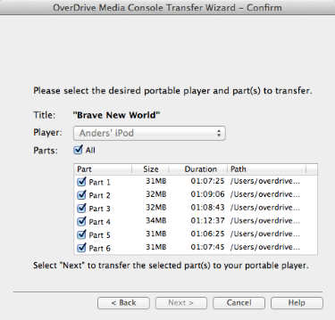 How to transfer audiobooks to an iPod using OverDrive for Mac