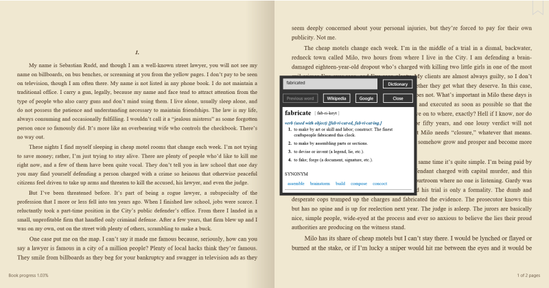 How to use the ebook reader in OverDrive for Windows 8/10