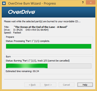 How to burn audiobooks to a CD using OverDrive for Windows