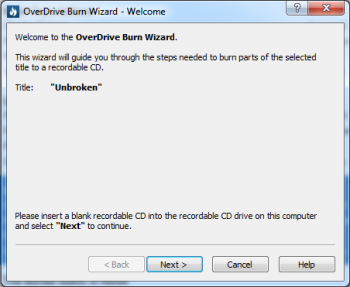 How to transfer and burn audiobooks using OverDrive for