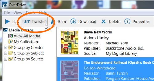 How to transfer audiobooks to an MP3 player using OverDrive