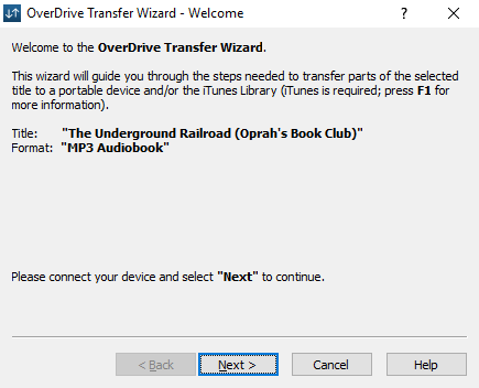 How to transfer audiobooks to an iPod using OverDrive for
