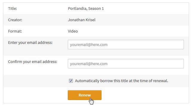 How to renew digital titles