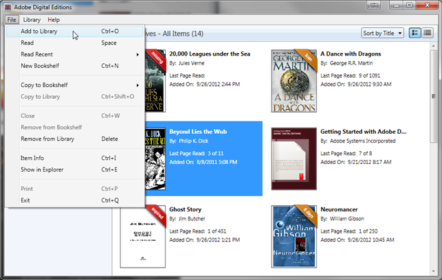 How to read Open EPUB or Open PDF ebooks on a computer