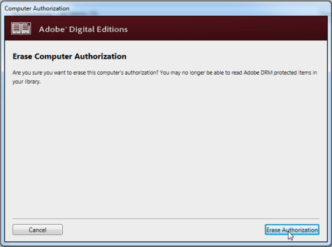 How to authorize and deauthorize Adobe Digital Editions on a