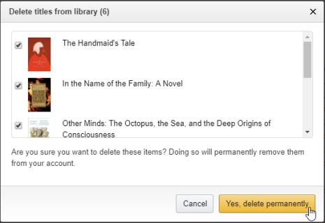 Are Kindle Books automatically removed from my Kindle or Kindle