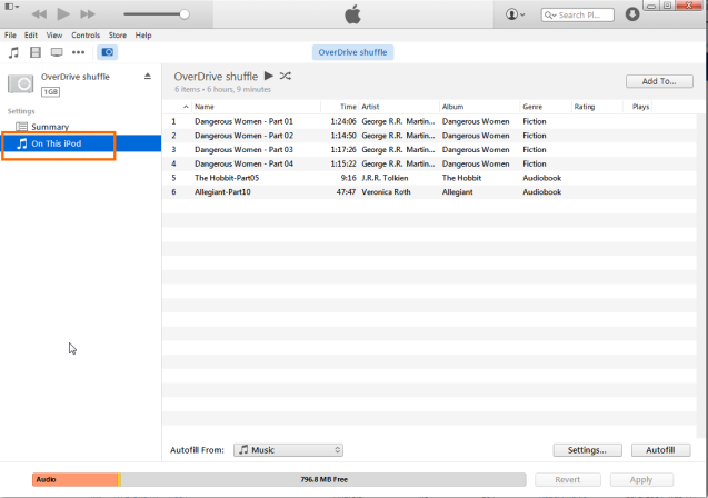 How to remove audiobooks from an iPod using iTunes